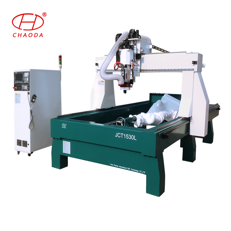 4 axis rotary cnc router for engraving sculptures / 3D CNC milling machine for EPS ,styrofoam,PU,polystyrene ,polyurethane