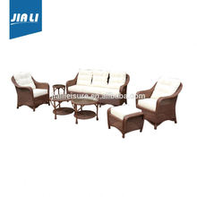 100% factory directly 5pc white wicker outdoor furniture