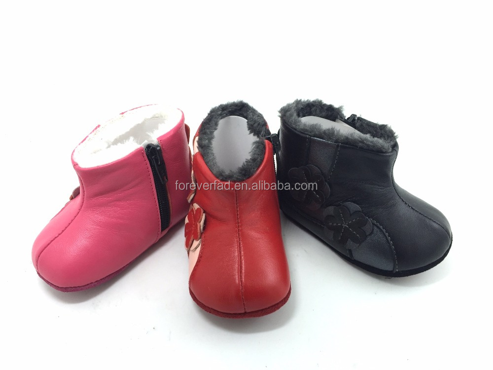 wholesale china website best selling outdoor leather baby peach colored shoes