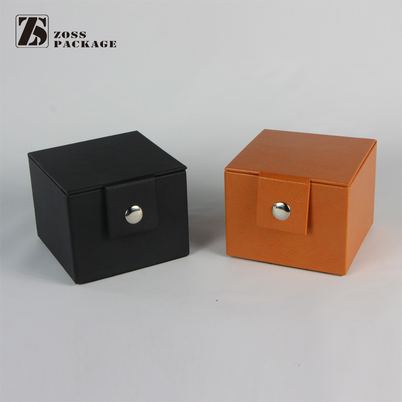 accept custom order high quality pu watch box made in china