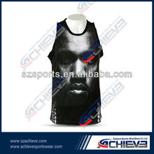 Polyester custom stringer gym sport running tactical vest for men