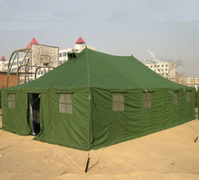 20 man green military waterproof canvas tents from Chinese army surplus