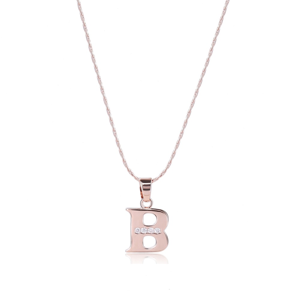 Fashion cheap letter necklaces initial letter necklace letter jewelry
