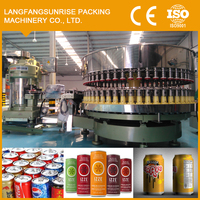 Filling packing machine for apple juice production line can/glass canned package