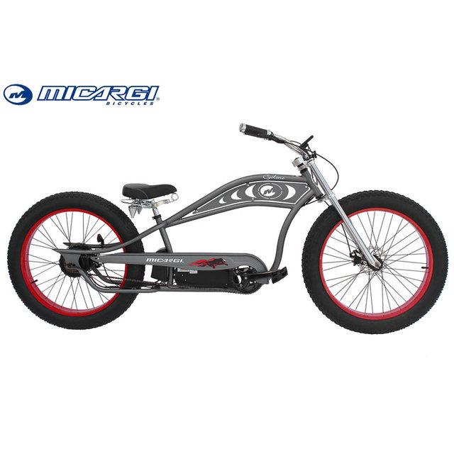 Micargi 26'' 500w electrical chopper bicycle CYCLONE fat tire e bike 48v battery electric bike