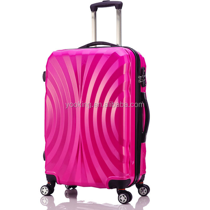 customized cabin luggages for travelling trolley with 4 wheels