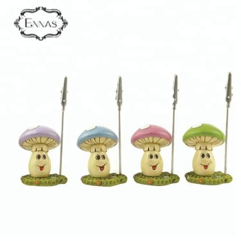 Polyresin mushroom decorations memo holder / photo clips / memo clips