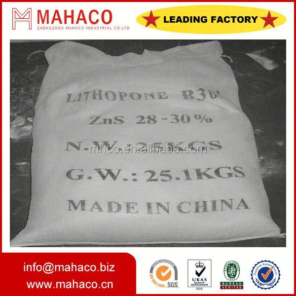 Zinc Sulfide ZnS Paint pigment lithopone powder for paints rubber etc factory direct