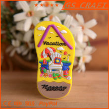 Cheap attractive shoes shaped resin fridge magnet