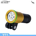 Free Shipping HI-MAX V11 Diving Video Light - Yellow
