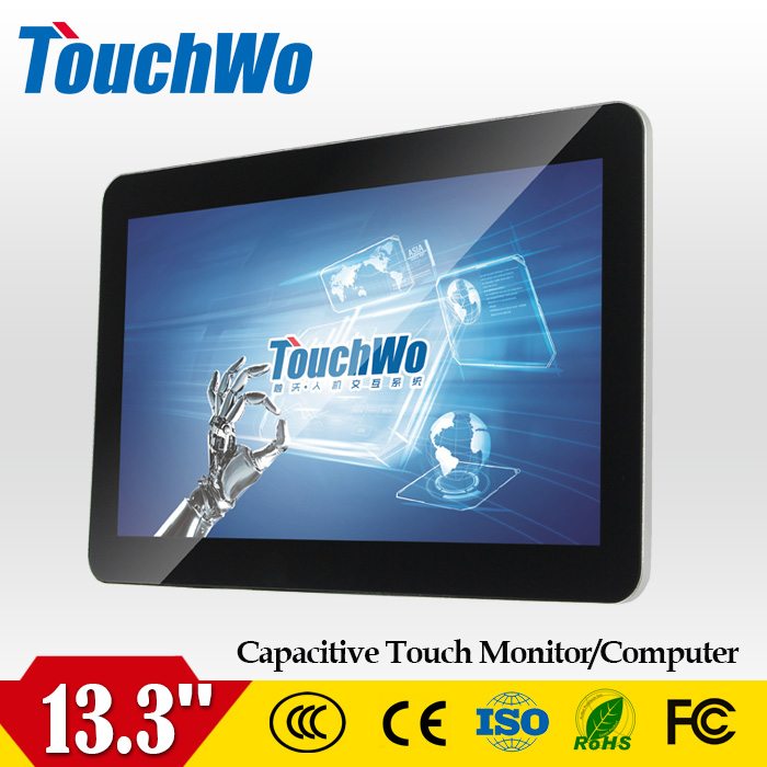 13.3 inch industrial touch screen panel pc tablet lcd touch screen monitor