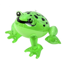 Party Bag Fancy Dress Green 40cm Inflatable Frog Toy Loot Blow Up Toy