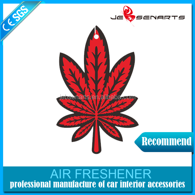 Custom cheap promotion aroma perfume hanging paper car air freshener