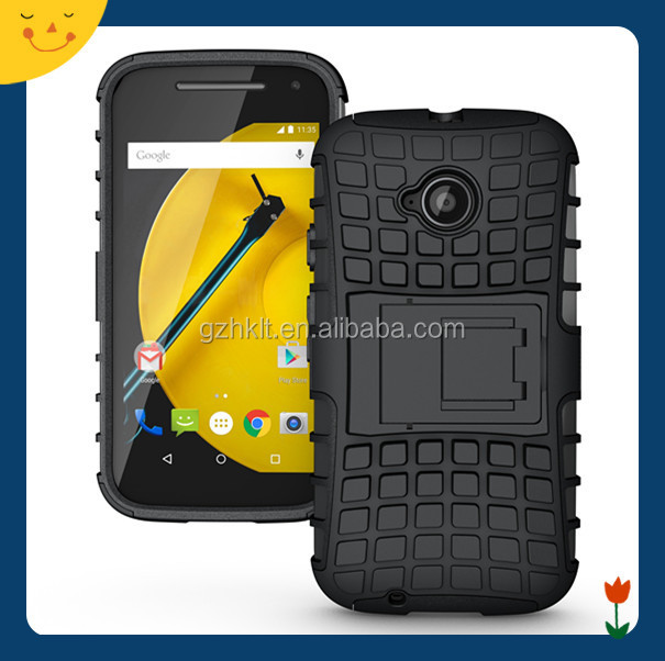 China wholesale! hybrid rugged hard case cover for Moto E 2015/Moto E2 case 2 in1 armor cell phone case