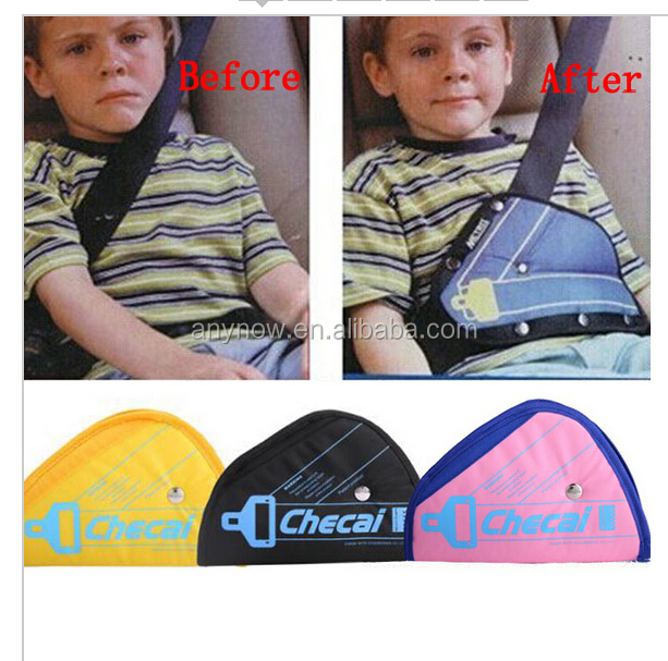 Protecting child triangle fixator toddlers car safety seat belt cover buckle adjuster