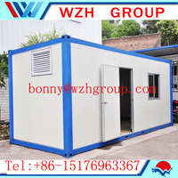 Low Cost Prefab Movable 20ft Container House and container home , office