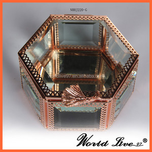 NHHJ220 Fashionable Alloy Jewelry Box/ Gifts Crafts Stocks