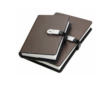 Agenda Office Supplies Pu Leather Diary A5 Business Gift Loose-Leaf Release Pu Notebook Usb Flash Drive