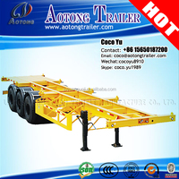 TOP 3 axles 40Feet skeleton chassis container semi trailer with rigid suspension