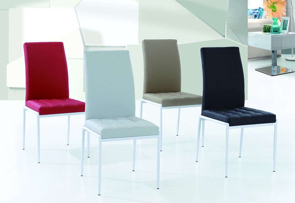 moderna silla pu con la lnea de la puntada pintura en polvo cubri la