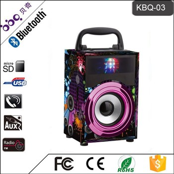 Professional 2.1 Light Show Portable Bluetooth Speaker with Bluetooth/SD,TF card/Audio in/FM rad