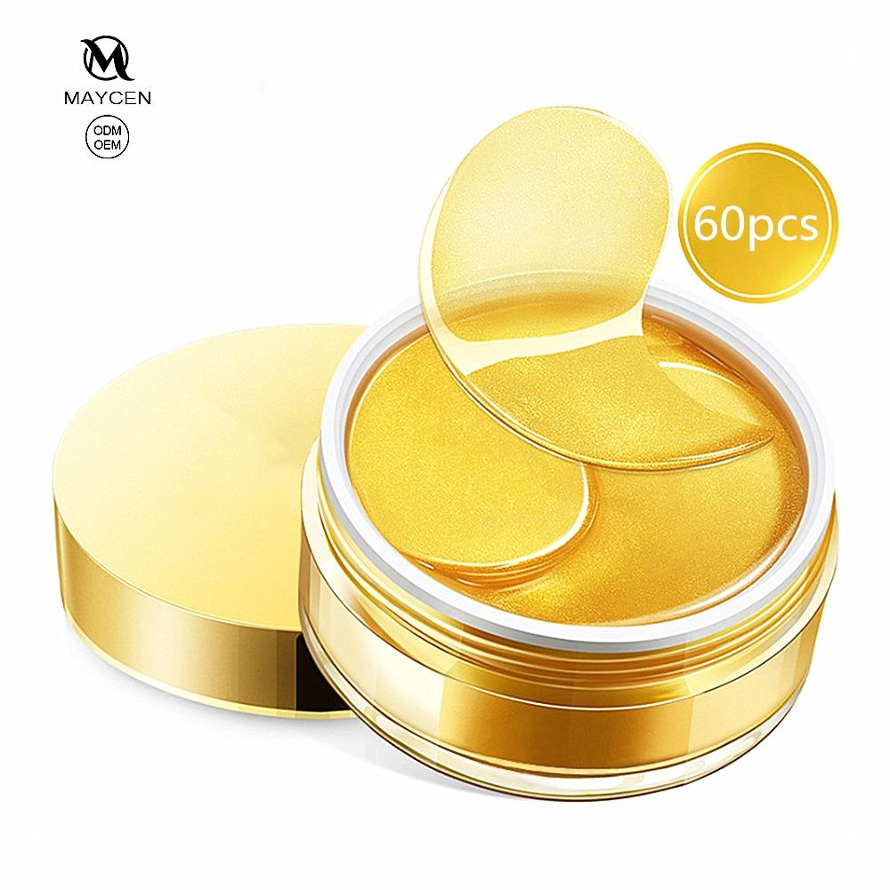 Private label 24K gold move black rim of <strong>eye</strong> facial remove wrinkle collagen <strong>eye</strong> mask