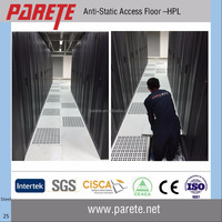 Steel anti static raised access floor system for casino