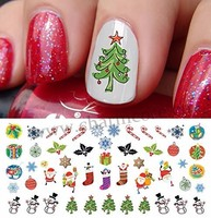 2016 Christmas nail sticker decals water transfer nail art stickers for sticker decal for nail art