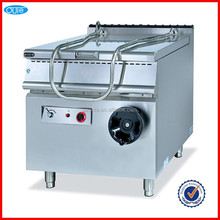 Hot sale commercial kitchen luxurious 80 liters stainless steel gas tilting braising pan