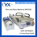 High-precision And Fast Speed Pick and Place Machine Chip Mounting Machine SMT280 With 28 Feeders+2 Heads