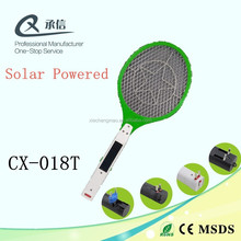 China Factory Popular Solar Powered Electric Rechargeable Mosquito Fly Killer Swatter,Outdoor & Indoor LED insect Zapper