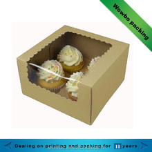 4 packs cake paper box with PVC window