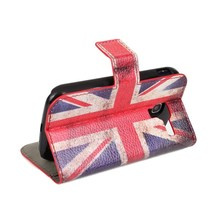 Hot selling Retro UK/USA Flag Flip Leather Cover Case for Galaxy Ace2 I8160