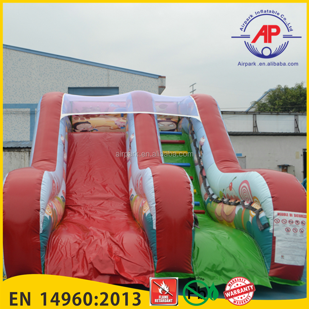 Airpark Candy Color Inflatable Giant Water Slide for Kids