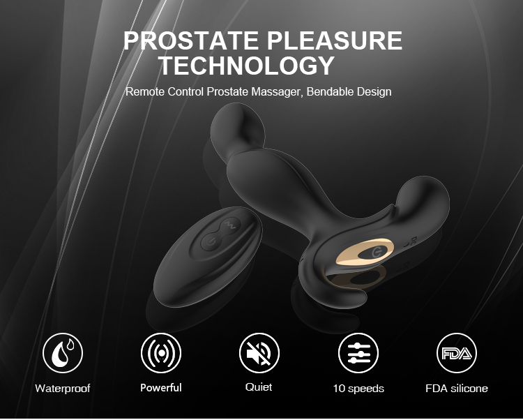 Remote Control Prostate Massager Anal Plug Vibrator For Male Men
