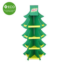 Christmas Promotion Cardboard Tree Hook Display, Spinning Display with Peg Hooks