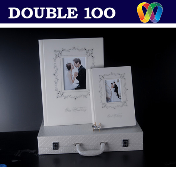 Cheap price custom photo album MDF/leather/cloth /acrylic
