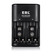 EBL 4 Slot portable battery charger AA/AAA/9V/NiMH/NiCD smart rapid battery charger