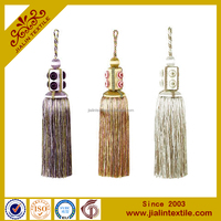 High quality wholesalers small rayon decorative handmade tassel for home textile,curtain,key tassel
