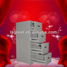 Foshan folding 4 Drawer File Cabinet With Hanging Filing Rod