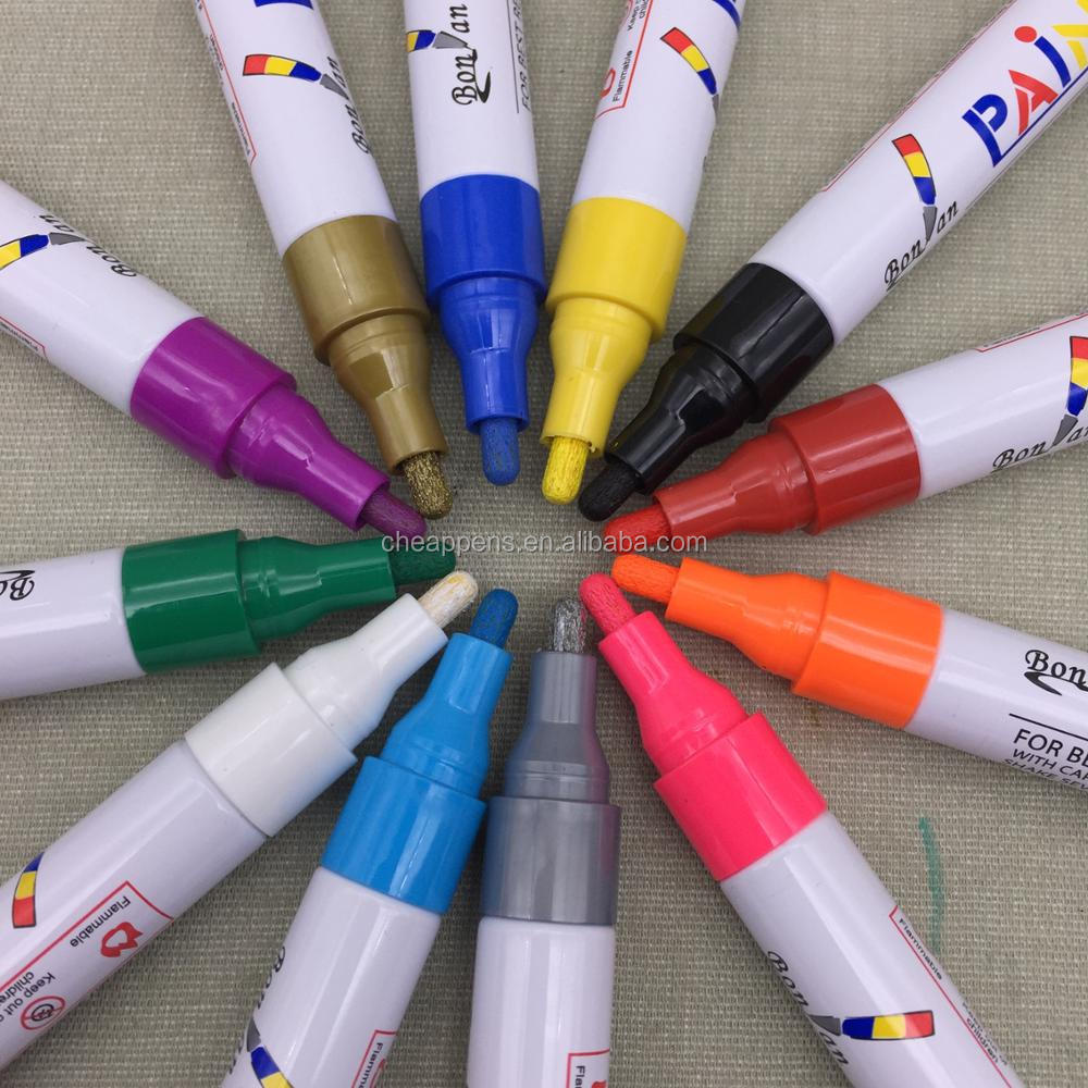Amazon sell paper box pack 8/12 Colors Oil Based Paint Marker set OEM