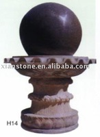 Black rolling ball water fountain