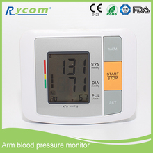 China Home Use Automatic Digital Arm Blood Pressure Monitor & Heart Beat Meter With Lcd Display Blood Pressure Monitoring