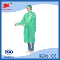 Medical Product Waterproof Ultrasonic Surgical Gown With Knitted Cuff green surgical gown