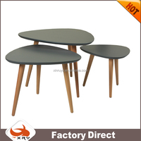 Matte Three-Piece Suit Side Table Heart-Shaped Coffee Table / Teapoy