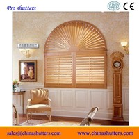 arched/circular/topered window shutters/louver/round window blinds
