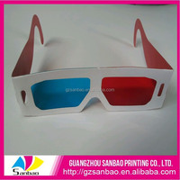 paper chromadepth 3d glasses china price,custom logo 3d paper glasses