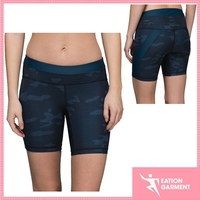 four-way stretch dry quickly yoga shorts stash pocket tights camouflage compression shorts