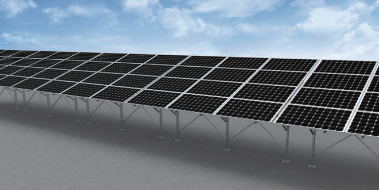 Adjustable steel solar Ground mounting triangle system