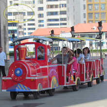 Shopping Mall 1 Locomotive And 6 Trailers Kids And Adults Hot Sale Electric Tourist Road Train